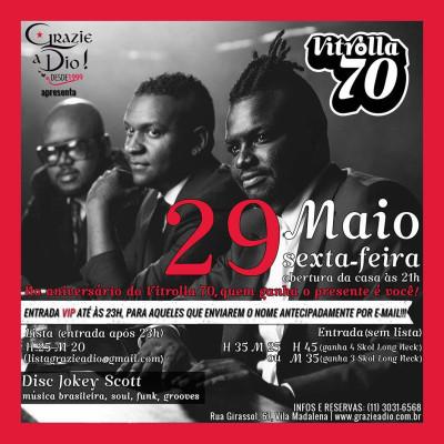 Sexta tem Vitrolla 70 no Grazie a Dio #nota