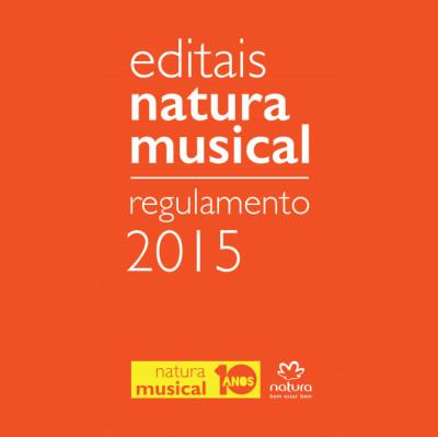 Inscrições abertas até junho para o edital Natura Musical