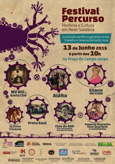 Segunda edição do Festival Percurso de Economia Solidária será na praça do Campo Limpo com diversas atrações