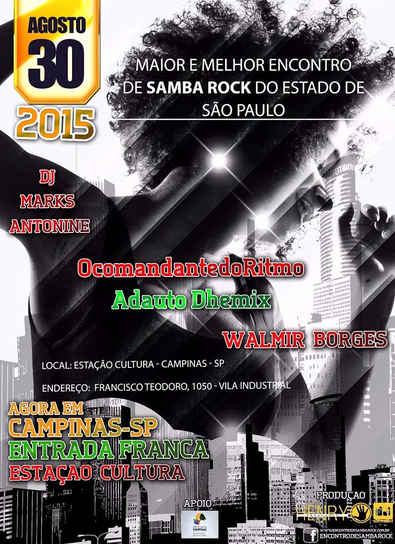 Encontro de Samba Rock acontece no final de agosto em Campinas #nota