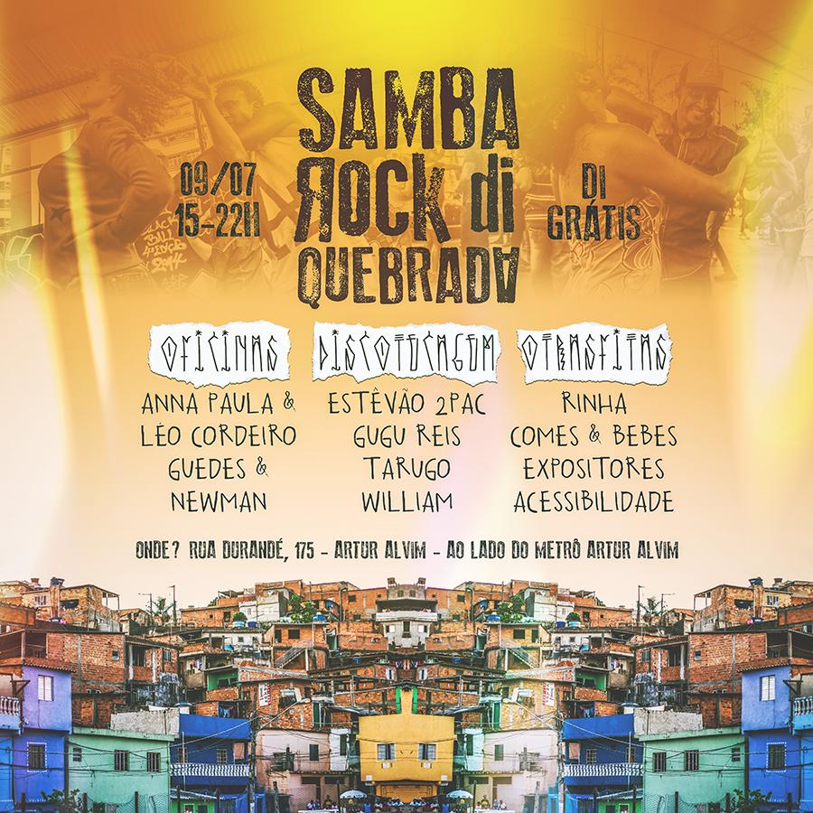 Samba Rock Di Quebrada acontece na ZL em sua segunda edição