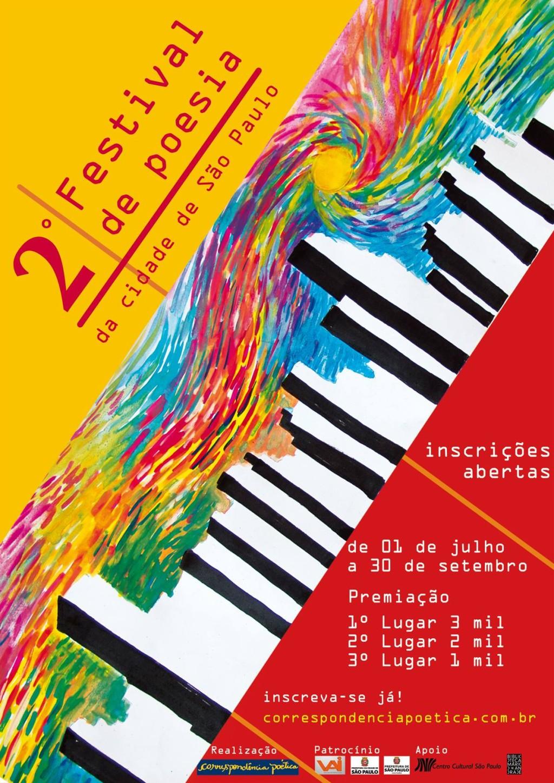 Participe da segunda edição do Festival de Poesia da cidade de São Paulo #nota