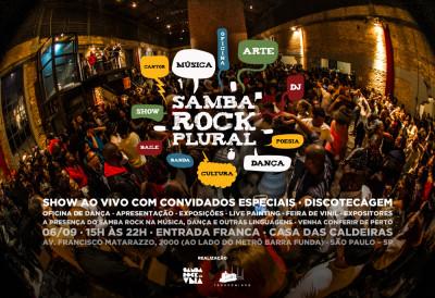 Samba Rock Plural reúne diversas atividades; show de Jimmy Costa com Melvin Santhana, Max B.O. e Dom Paulinho encerra o evento