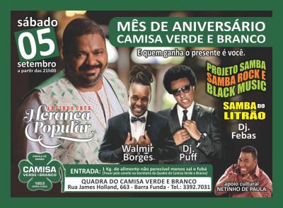 Camisa Verde e Branco festeja aniversário e traz samba rock na programação #nota