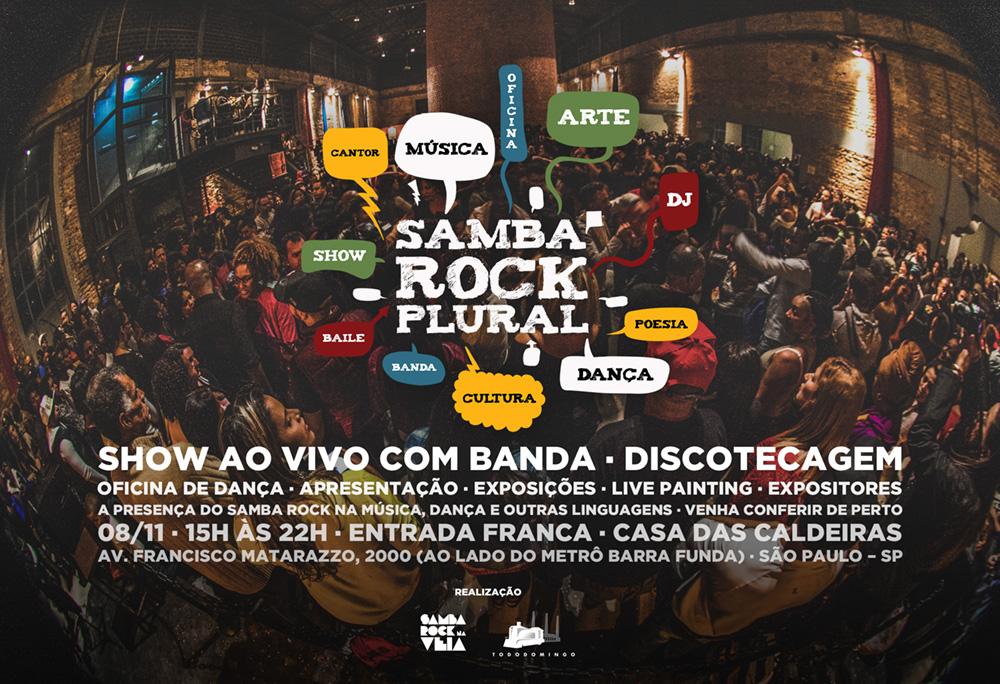 Última edição do Samba Rock Plural deste ano traz Os Opalas em nova formação e diversas atrações especiais