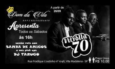 Amanhã, sábado, tem banda Vitrolla 70 na Vila Madalena #nota