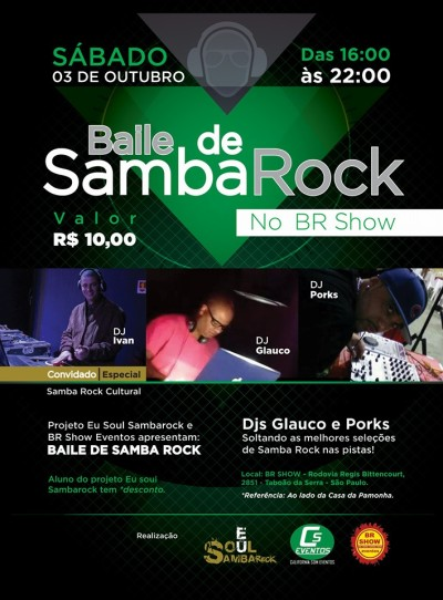 Baile de Samba Rock no BR Show #nota