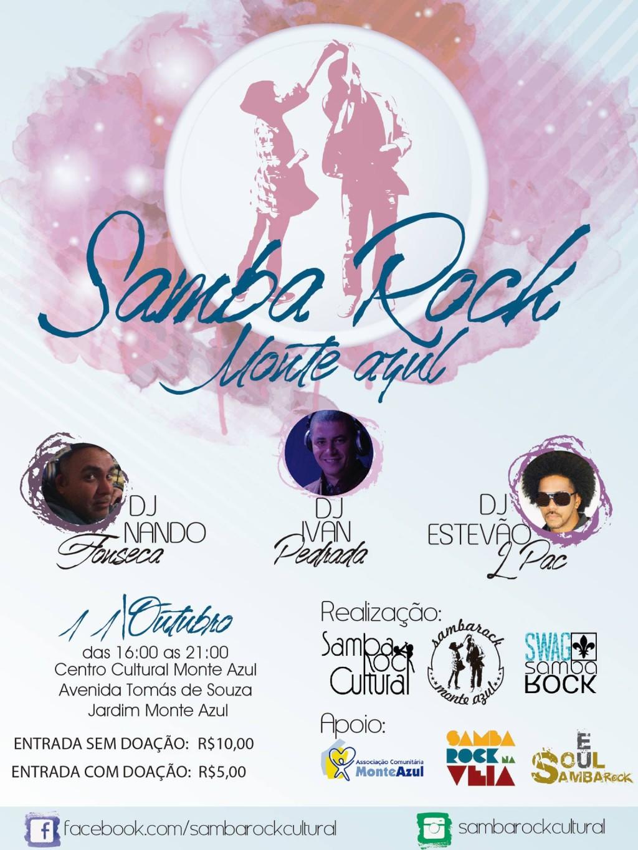 Samba Rock Monte Azul em outubro #nota