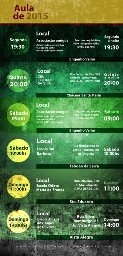 Eu Soul Samba Rock promove aulas durante vários dias da semana