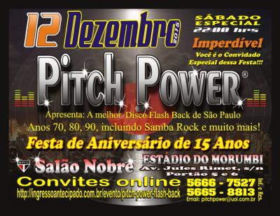 Pitch Power comemora 15 anos com grande baile no Salão Nobre do Estádio do Morumbi #nota