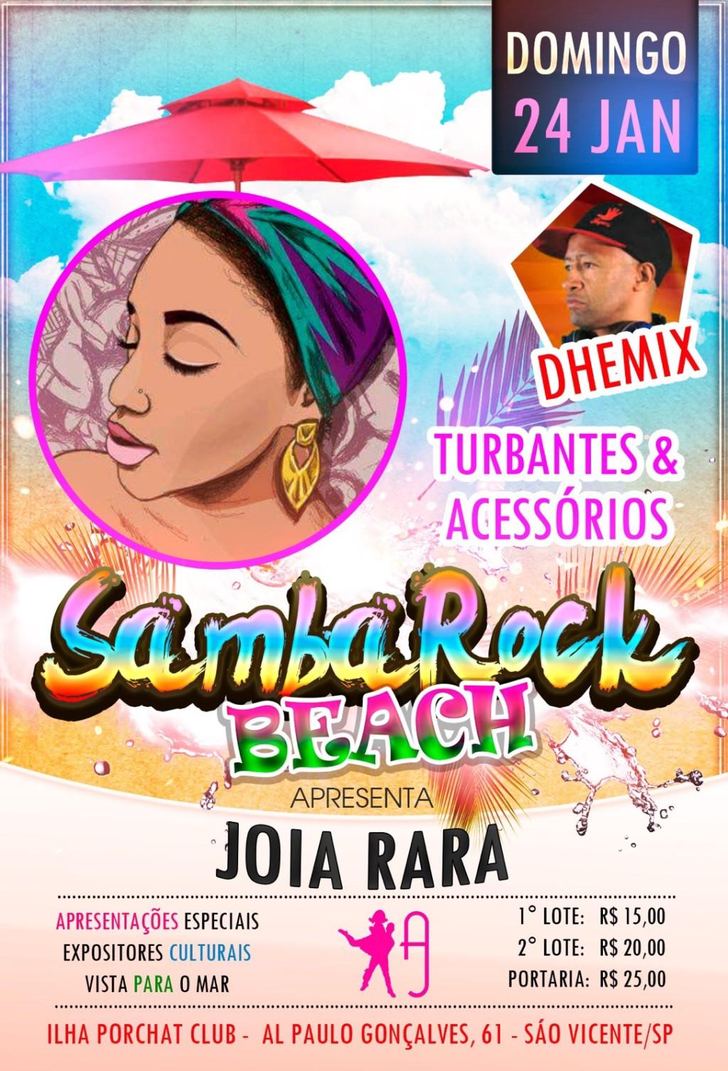 Samba Rock Beach agita o litoral de São Paulo no próximo domingo #nota