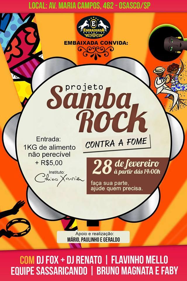 Projeto Samba Rock Contra a Fome acontece em Osasco #nota