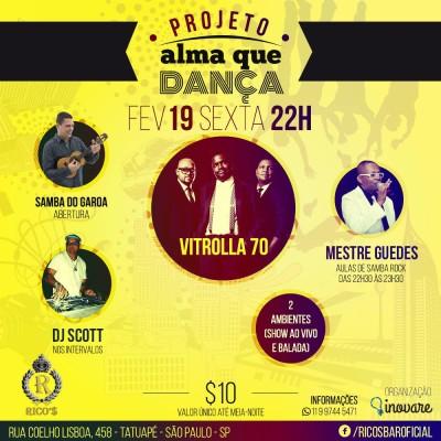 Projeto Alma que Dança traz programação voltada ao samba rock #nota
