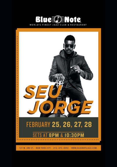 Com duas apresentações por noite é possível conferir Seu Jorge em Nova Iorque até domingo #nota