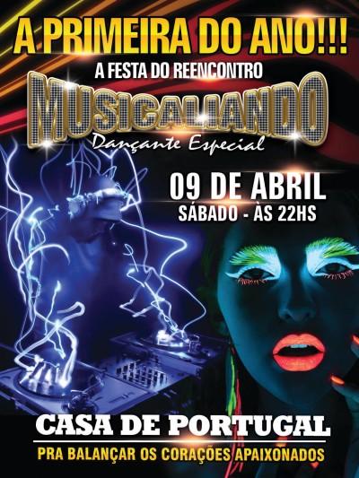 Primeiro baile Musicaliando do ano acontece em abril; Casa de Portugal #nota
