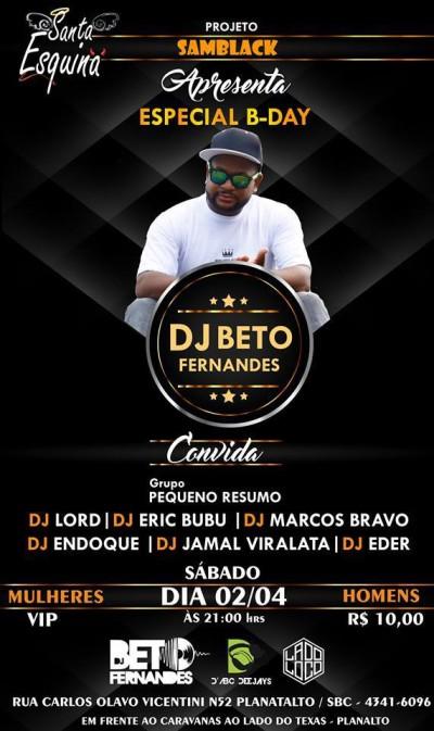 Samba rock em São Bernardo do Campo no aniversário do DJ Beto Fernandes #nota