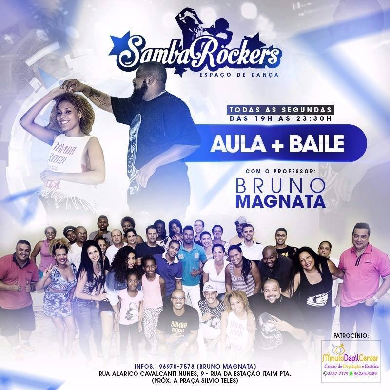 Aula de samba rock e baile toda segunda no espaço SambaRockers #nota