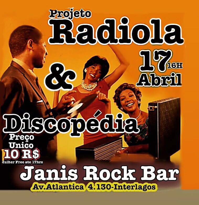Neste domingo tem Projeto Radiola e Discopédia juntos em Interlagos #nota