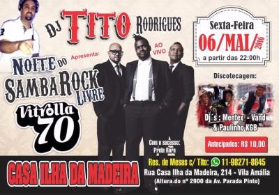 Noite do Samba Rock Livre no Ilha da Madeira #nota