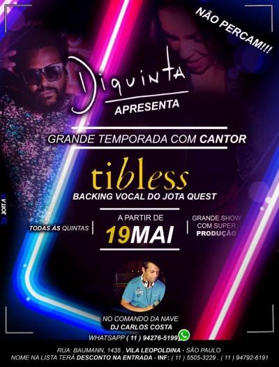 Tibless abre temporada de shows no Diquinta #nota