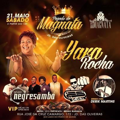 Sábado tem Yara Rocha no Pagode do Magnata #nota