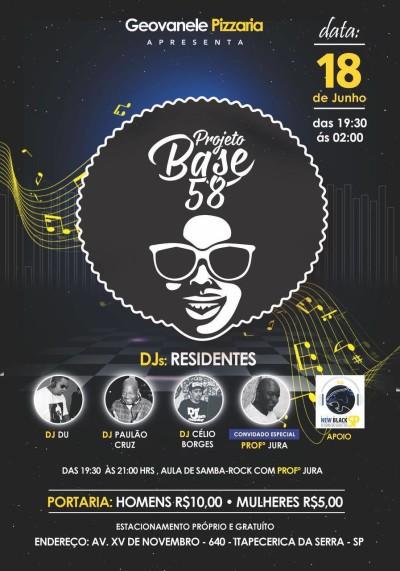 A Noite do Samba Rock acontece no Projeto Base 58 #nota