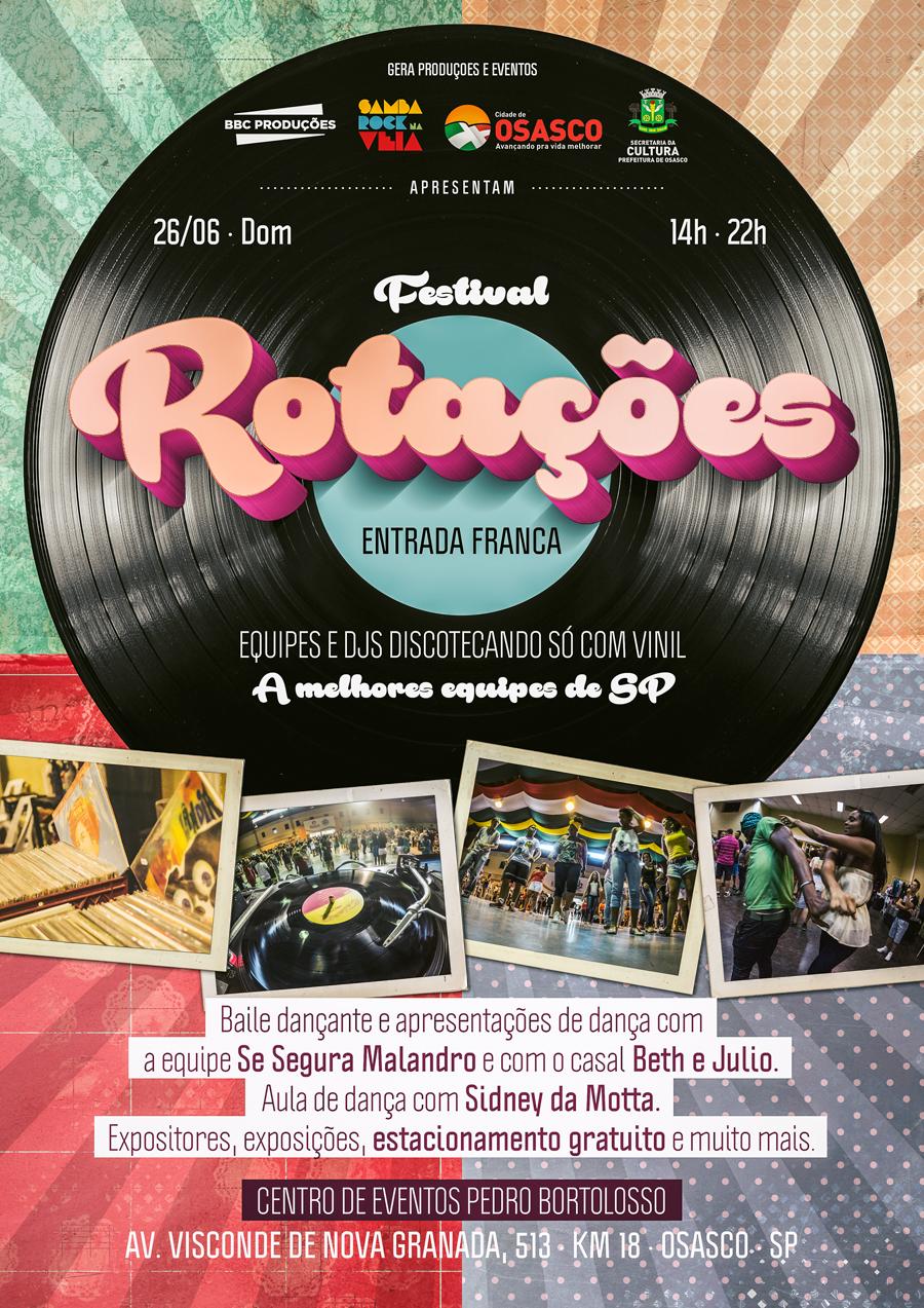 Festival Rotações acontece novamente em Osasco na mais pura celebração da música tocada em vinil; Entrada franca
