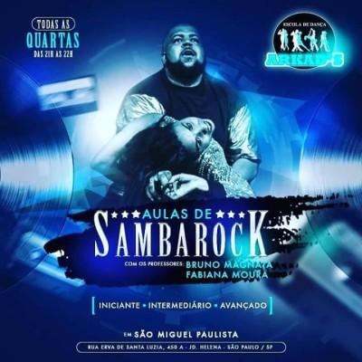 Fabiana e Magnata dão aulas de samba rock toda quarta na ZL de Sampa #nota