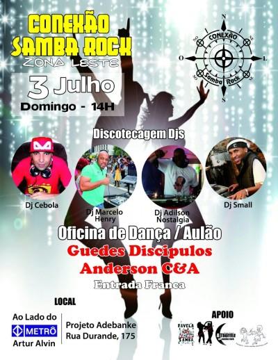 Conexão Samba Rock na zona leste de São Paulo #nota