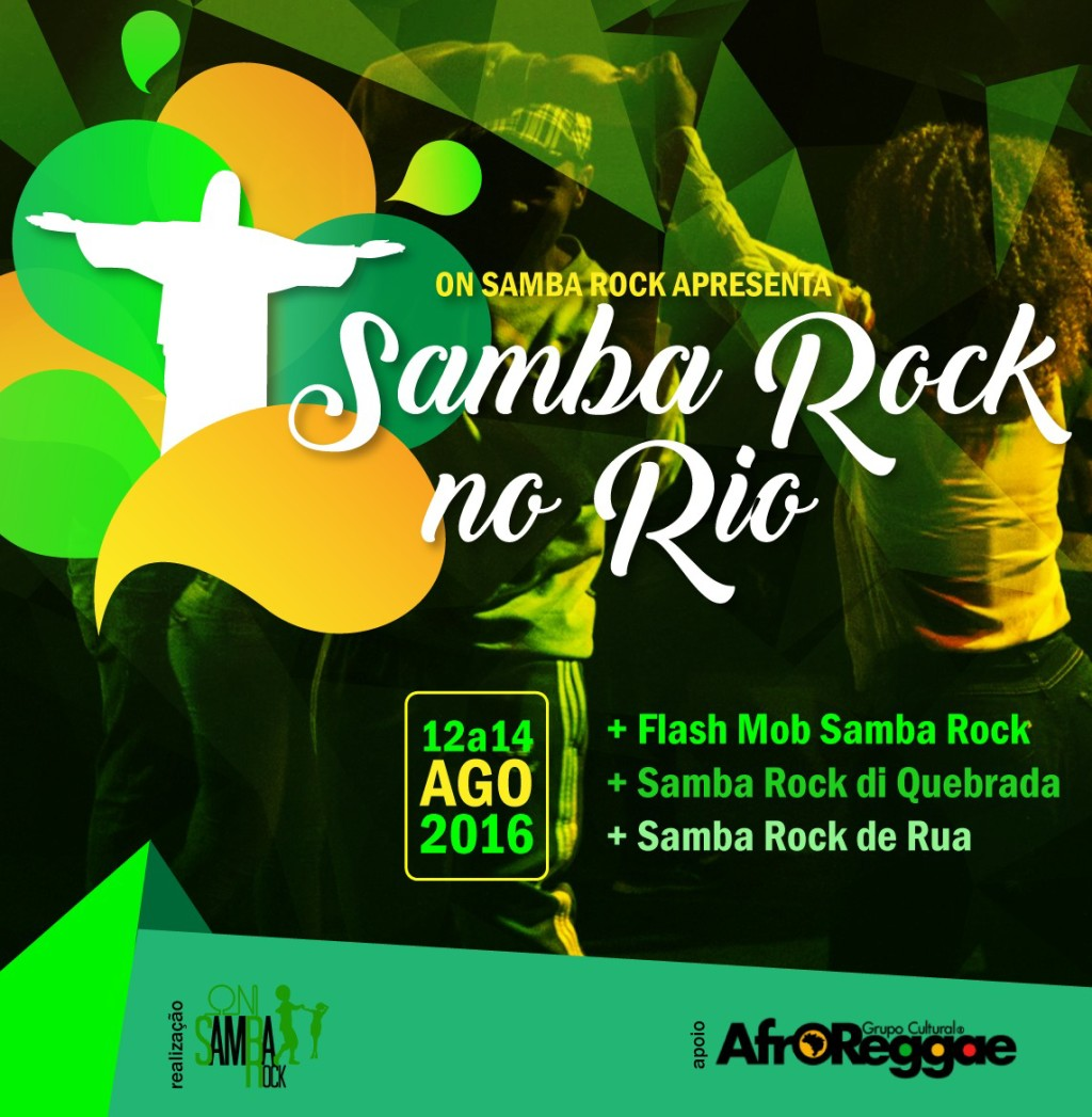 Samba Rock no Rio traz programação com flash mob, Samba Rock Di Quebrada e Samba Rock de Rua #nota