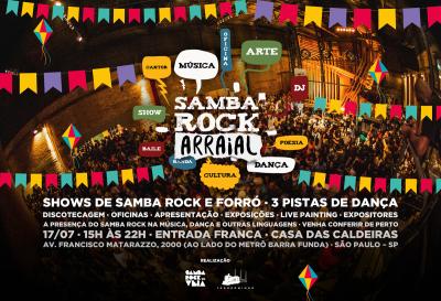 Samba Rock Na Veia realiza Plural em clima de arraial na Casa das Caldeiras