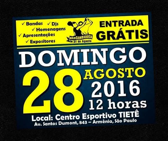 Centro Esportivo Tietê receberá evento em comemoração ao Dia do Samba Rock #nota