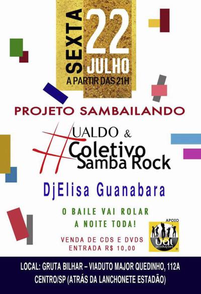 Ualdo e Coletivo Samba Rock se apresentam no centro de SP #nota