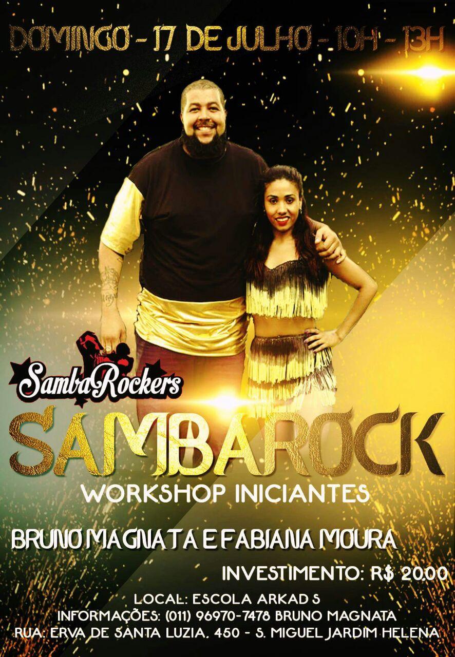 Fabiana Moura e Bruno Magnata lançam workshop de samba rock para iniciantes #nota