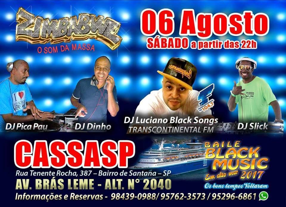 CASSASP recebe baile da equipe Zimbabwe; Quatro DJs comandam a festa #nota