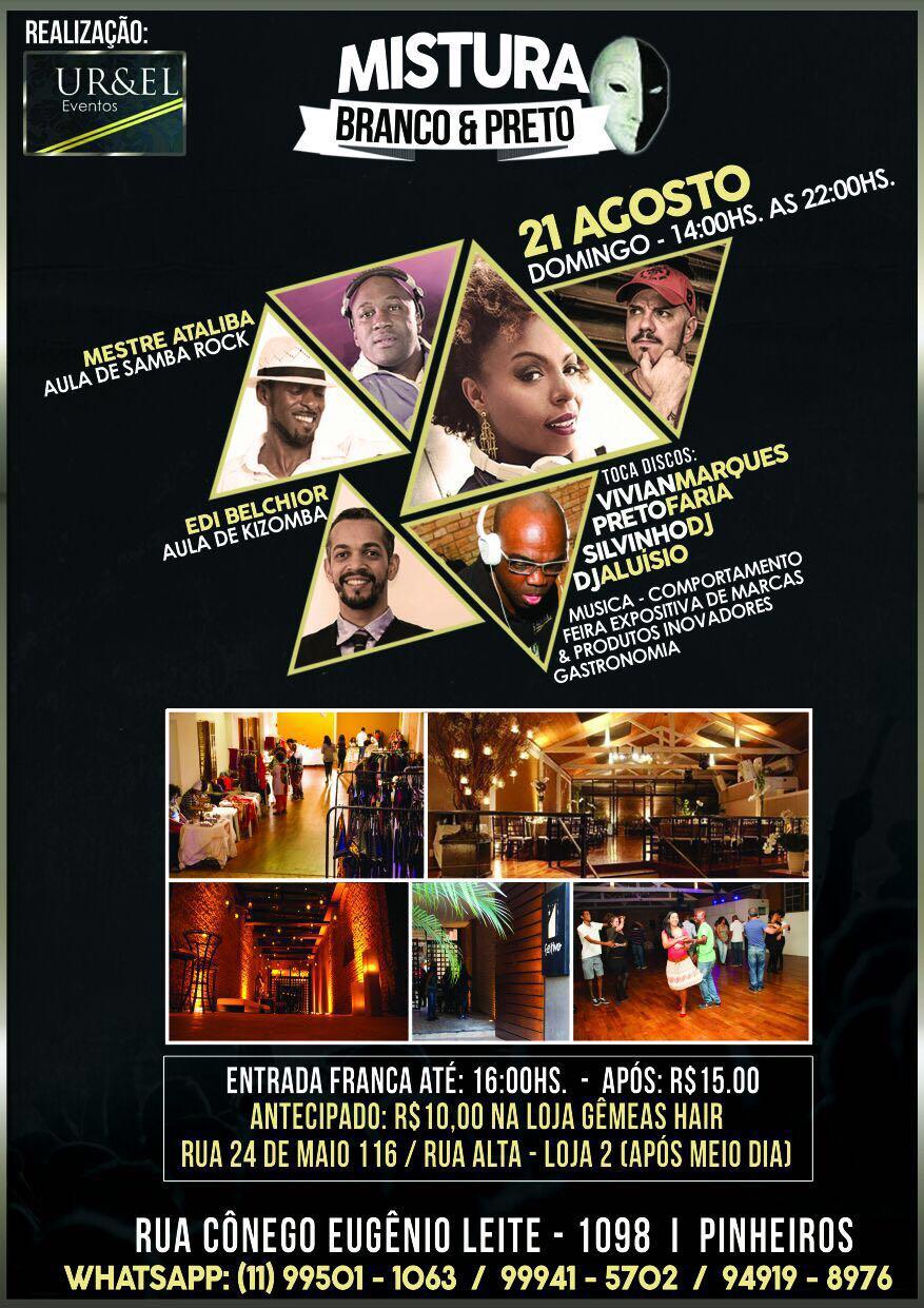 Mistura Branco & Preto reúne DJs e dançarinos para celebrar a cultura negra #nota