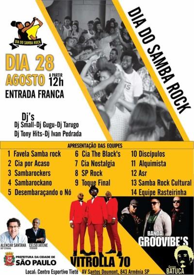 Dia do Samba Rock será comemorado no Centro Esportivo Tietê com programação repleta de atrações #nota