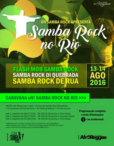 Caravanas convocam pessoas para curtir atividades de samba rock no Rio de Janeiro durante Jogos Olímpicos