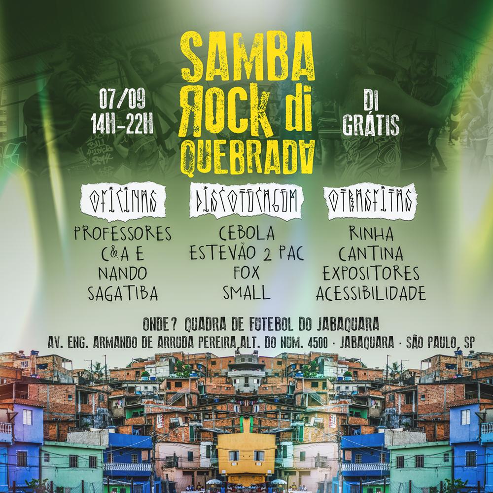 Samba Rock Di Quebrada realiza sétima edição nesta quarta; feriado de 7 de setembro #nota