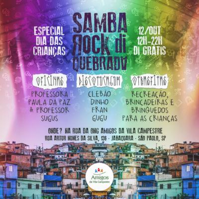 Samba Rock Di Quebrada Especial Dia das Crianças acontecerá no Jabaquara repleto de atividades #nota