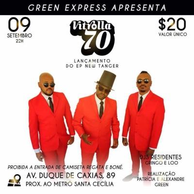 Banda Vitrolla 70 lança seu EP no Green Express neste sábado #nota