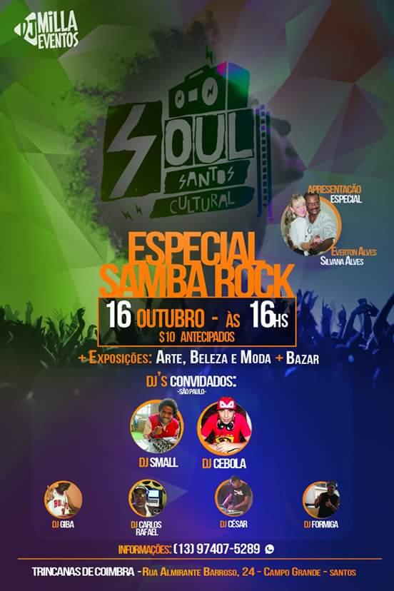Soul Santos Cultural realiza evento especial de samba rock na Baixada Santista #nota