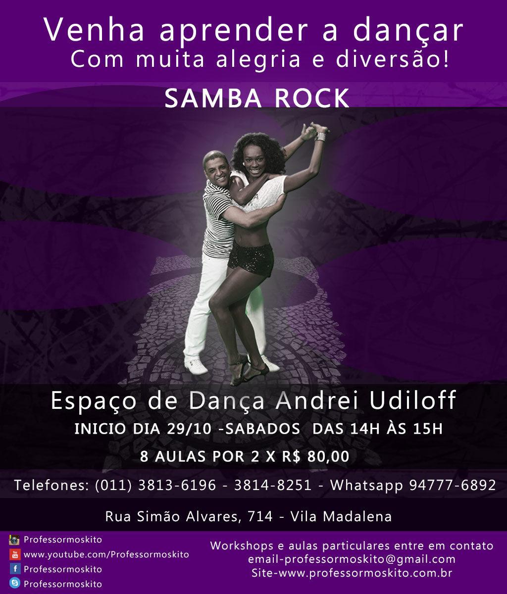 Faça aulas de samba rock com Anna Paula e Moskito no Espaço de Dança Andrei Udiloff #nota