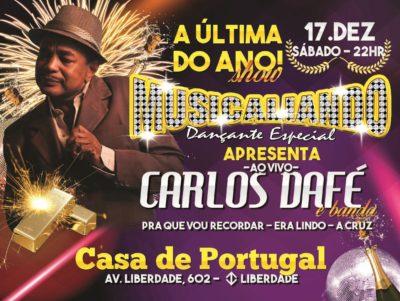 Musicaliando realiza último baile do ano com show ao vivo de Carlos Dafé #nota