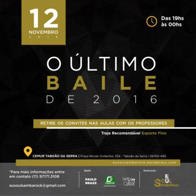 Projeto Eu Soul Sambarock realiza último baile do ano em grande estilo no CEMUR em Taboão da Serra #nota