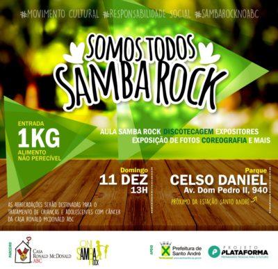 Cidade de Santo André recebe Somos Todos Samba Rock em dezembro #nota