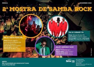 Segunda Mostra de Samba Rock acontece neste fim de semana repleta de atividades e shows ao vivo #nota