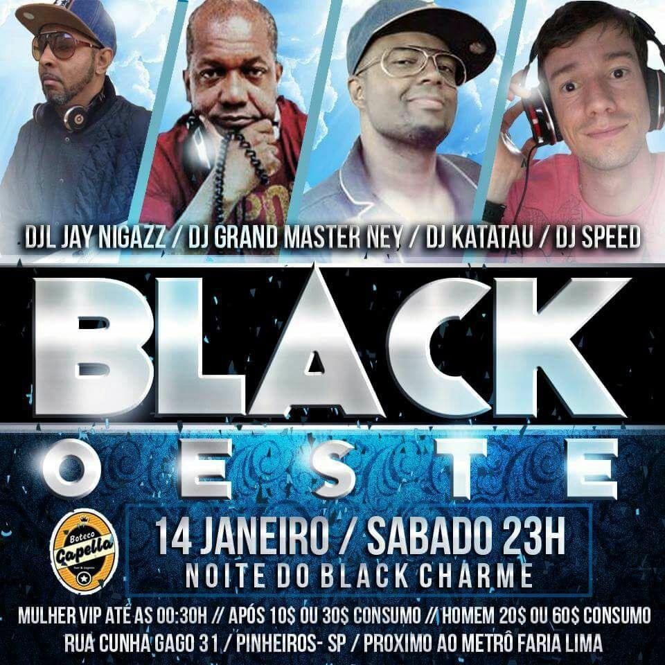 Black Oeste reforça presença de bailes black na região com diversos DJs #nota