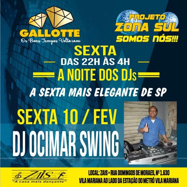 DJ Ocimar Swing discoteca no Projeto Zona Sul Somos Nós #nota