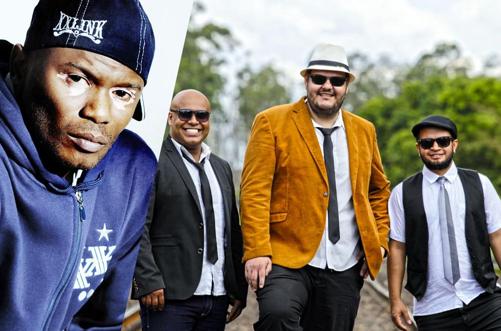 Banda Cambaio faz show com participação de Rappin Hood de graça no SESC